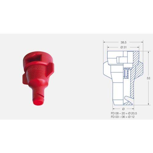 Műanyag folyékony műtrágya fúvóka 130°