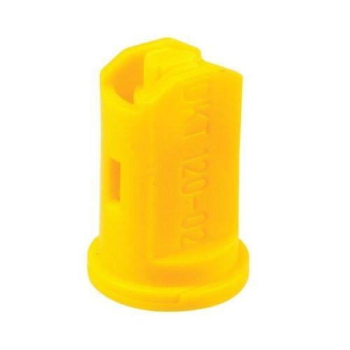 Kompakt légbeszívásos 2x120° dupla lapos sugarú műanyag fúvóka