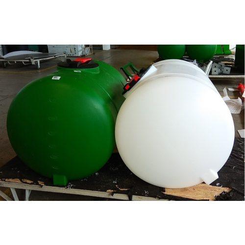 660 literes üres tartály fehér színben