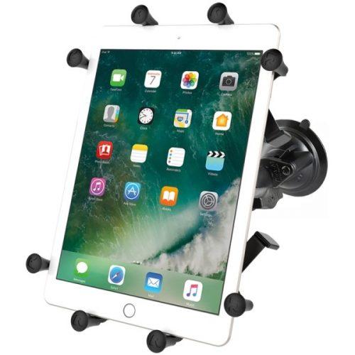 """Komplett 10""""-os tablet tartó szett vákuumos rögzítő talppal (X-Grip)"""