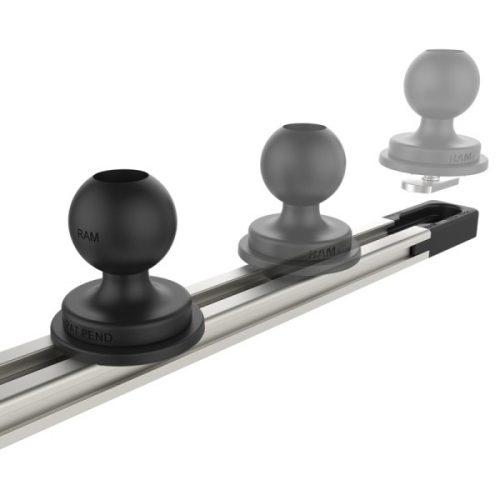 "RAM® Tough-Track™ alumínium moduláris sín(rendszer), 13"""